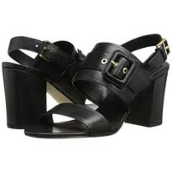 Cole Haan Amavia High Heeled Sandal Black Leather